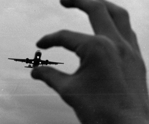 black, photography, and plane image