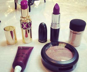 make up, mac, and lipstick image