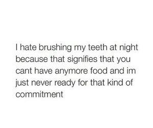 bedtime, brushing teeth, and eating image