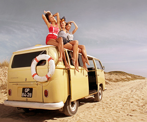 bus, vw, and sexy image