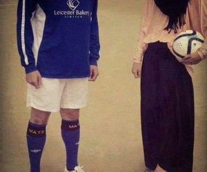 football, couple, and love image