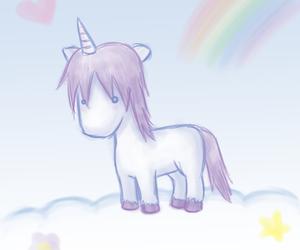 unicorn, cloud, and rainbow image