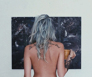blue hair, free, and Tattoos image