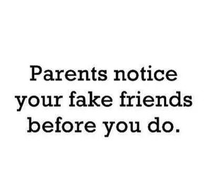 parents, true, and fake image