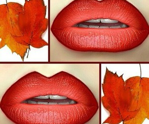 autumn and lips image
