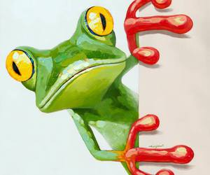 oil painting frog art image