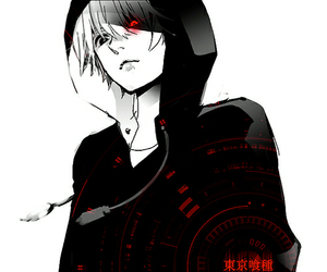 anime, monochrome, and tokyo ghoul image
