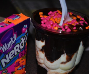 ice cream, food, and nerds image