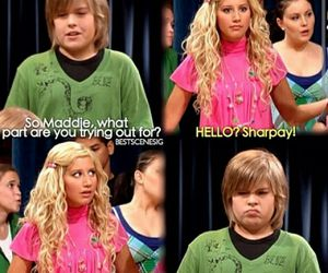 sharpay, ashley tisdale, and zack and cody image