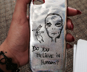 alien, grunge, and nails image