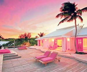 pink, summer, and house image