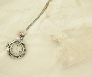 bow, vintage, and clock image