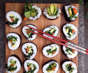 sushi, food, and healthy image