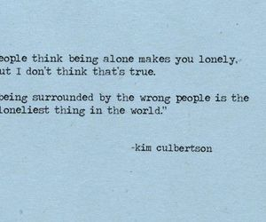 quote, lonely, and alone image