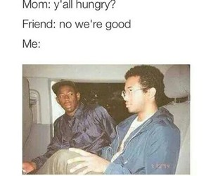 funny, friends, and food image