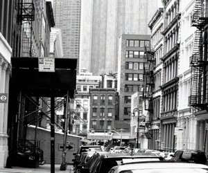 black and white, broadway, and film image