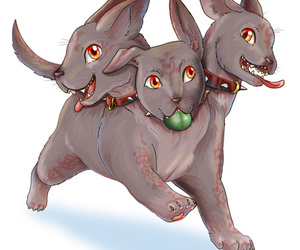 baby, mystic, and cerberus image