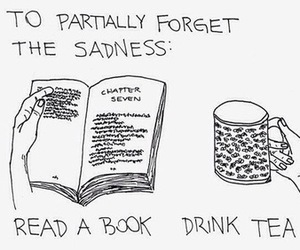 book, forget, and sadness image