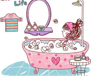 drawing, pink, and cute image