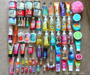 bath and body works and love image