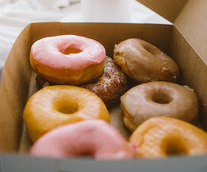 food, donuts, and yummy image