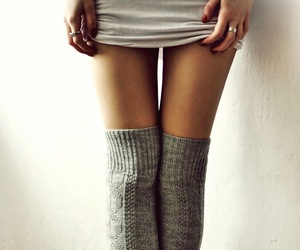 fall, socks, and fashion image