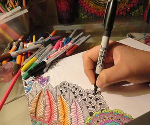 art, arte, and colores image