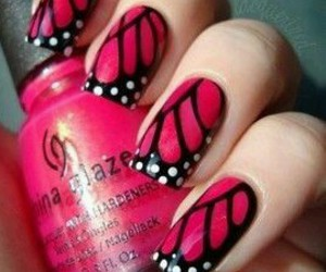 nails, cute, and butterfly image