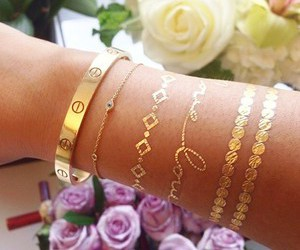 gold, accessories, and bracelet image