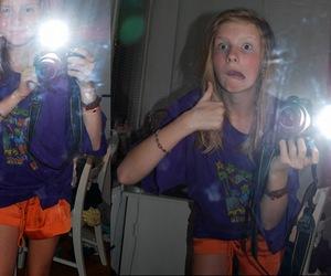blonde, mirror, and orange image