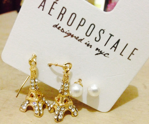 accessories, earrings, and eiffel tower image