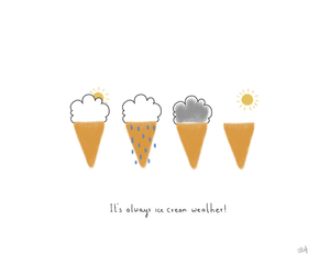 cute, ice cream, and weather image