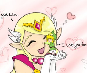 link, zelda, and love image
