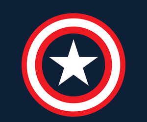 background, captain america, and red image