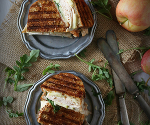 apple, brie, and honey image