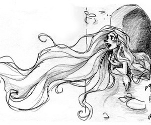 disney, rapunzel, and hair image