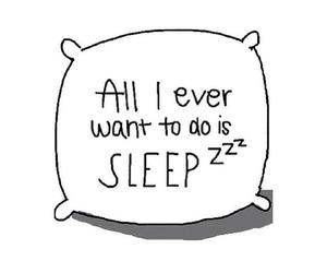 sleep, quote, and overlay image