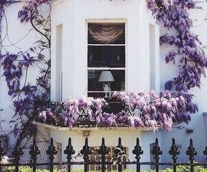 beautiful, house, and purple image