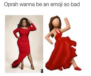 oprah, emoji, and funny image