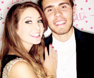 zalfie, zoella, and pointlessblog image