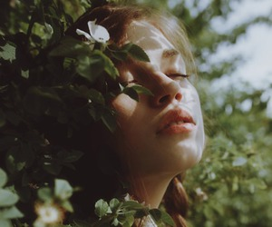 girl, nature, and flowers image