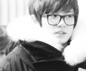 black and white, exo, and chanyeol image