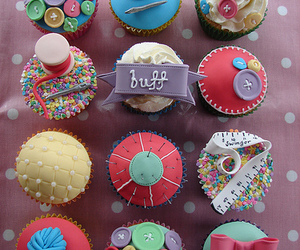 cake, cupcakes, and sew image