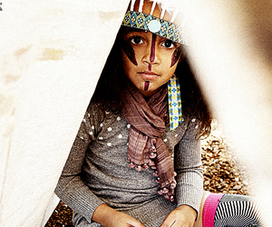 indian, teepee, and facepaint image