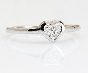 promise ring, love, and heart shape diamond image