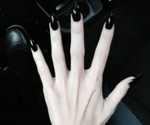 black, nails, and grunge image