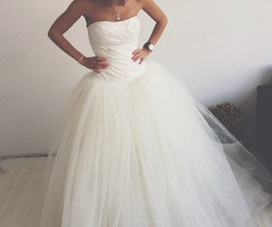 wedding, fashion, and wedding dress image