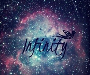 infinity, galaxy, and bird image