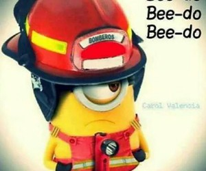 firefighters, minions, and casque image