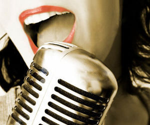 sing, lips, and music image